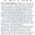 Today's Equestrian September 2007 Article